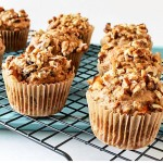 Spicy Carrot Cake Oatmeal Muffins