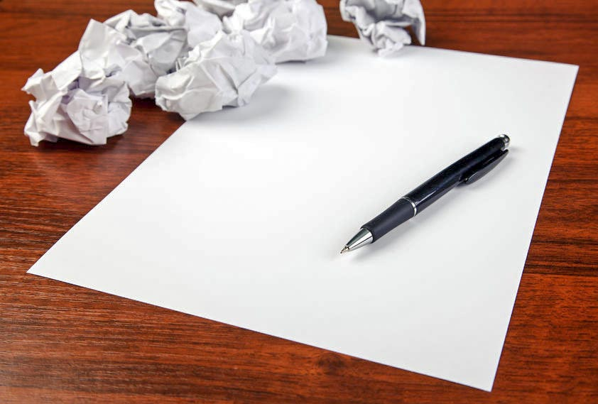 Blank paper waiting for idea