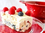 Red Raspberry, White Nectarine and Blueberry Icebox Cake