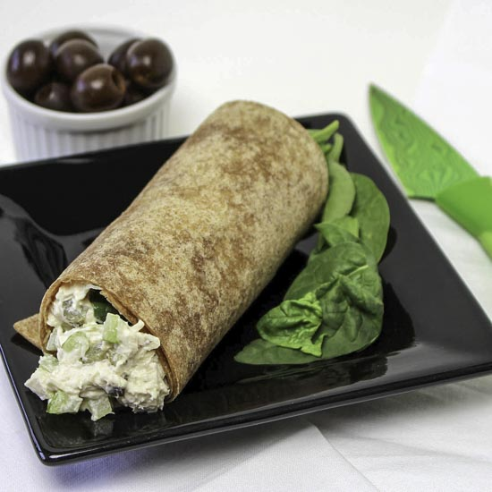 Chicken Salad In A Whole Grain Wrap With Spinach
