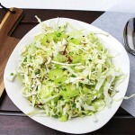 Crunchy Cabbage Salad with Sliced Almonds