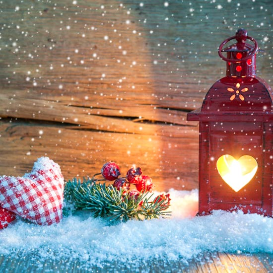 Christmas Lantern with Hearts