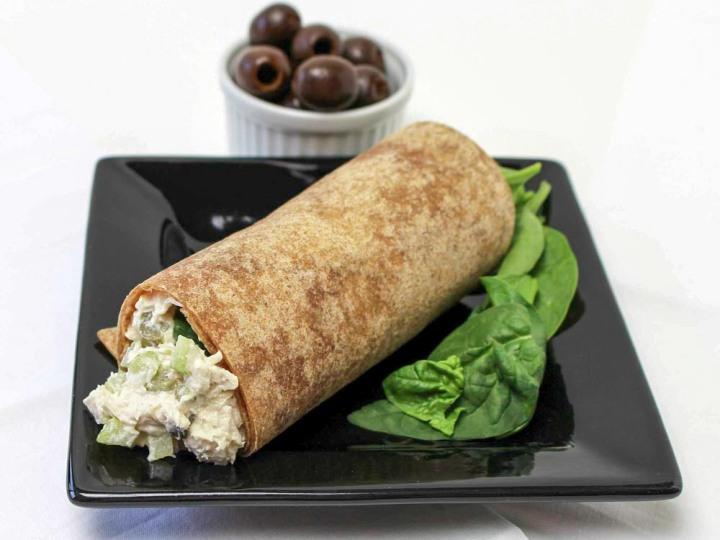 Chicken Salad In A Whole Grain Wrap