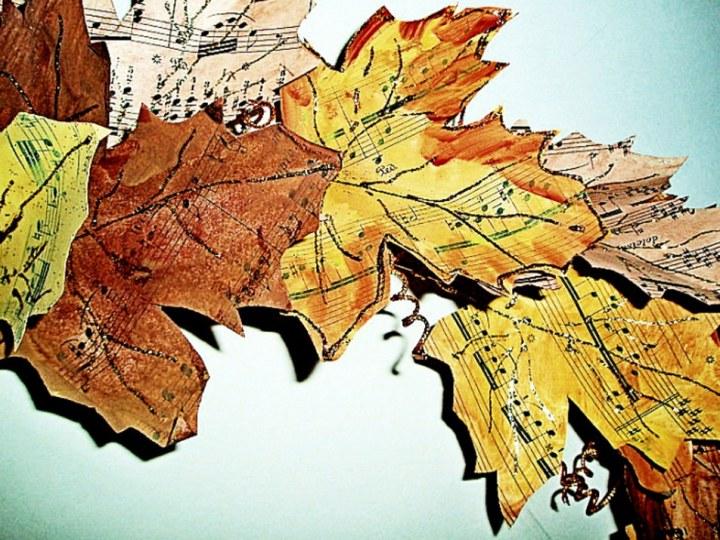 Fall Vintage Sheet Music Wreath