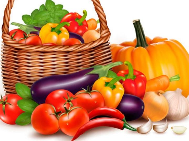 A basket full of fresh vegetables.