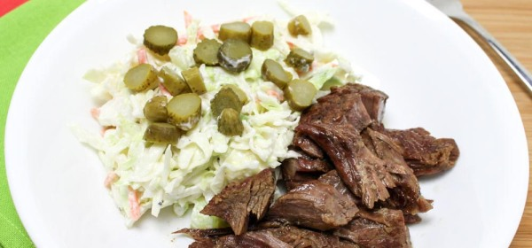 Simple Cabbage Coleslaw With A Healthy Yogurt Dressing