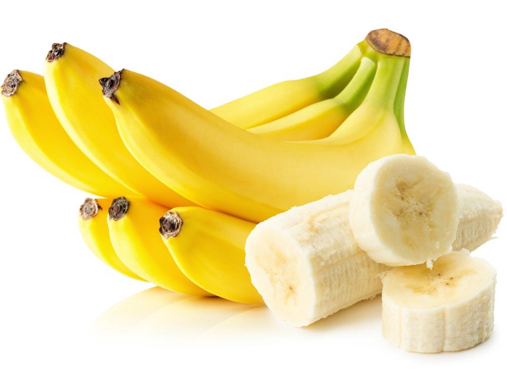 Bananas on White Background