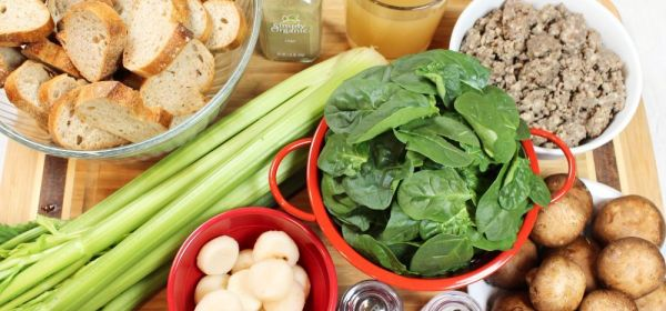 Hubby's Spinach & Cremini Holiday Dressing