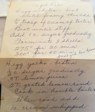 Betty's Old-Fashioned Heavenly Lemon Angel Pie