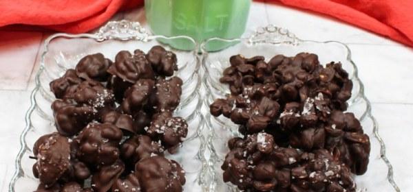 Dark Chocolate Walnuts & Peanut Clusters