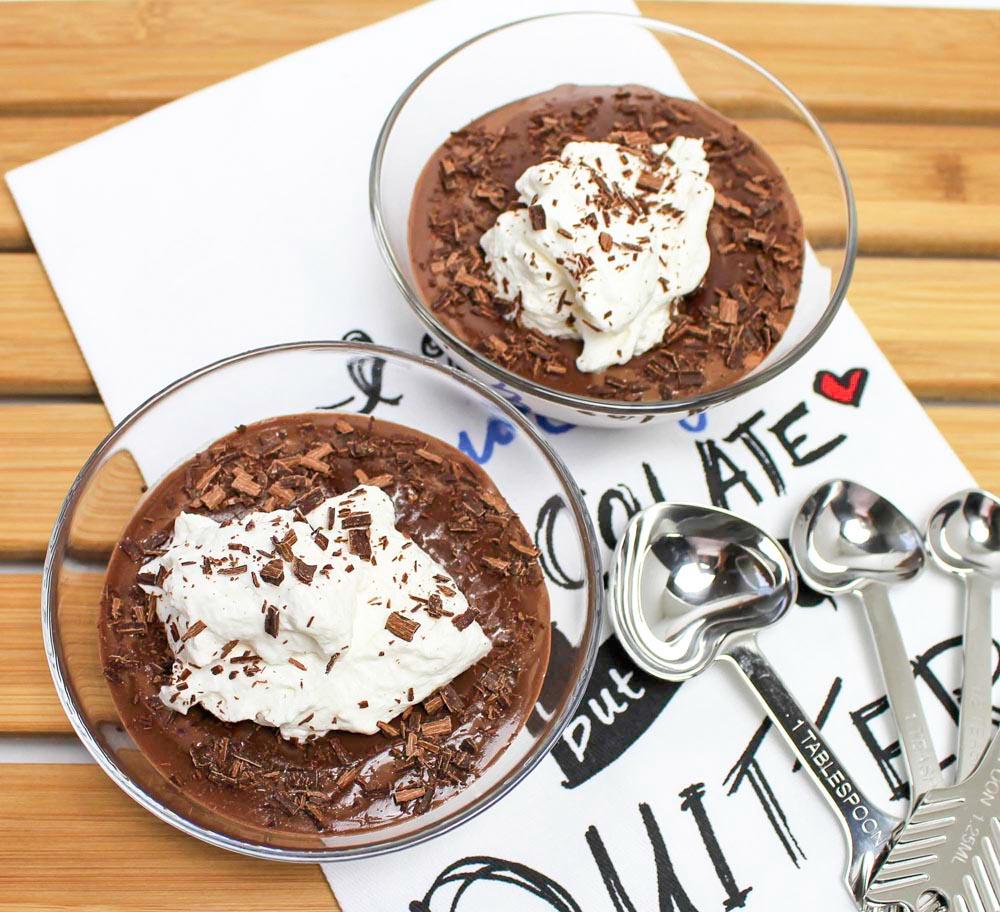 Triple Chocolate Eggless Pudding