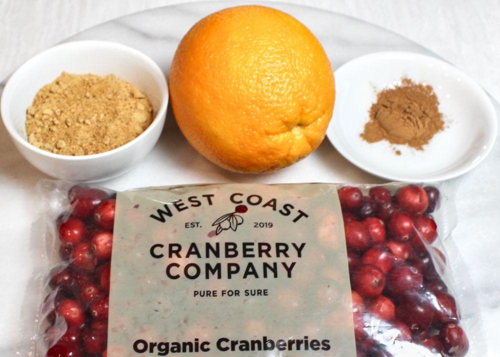 Fresh Organic Cranberry and Orange Jam