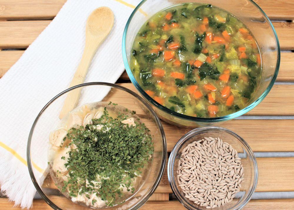 Chicken & Whole Wheat Orzo Pasta Soup