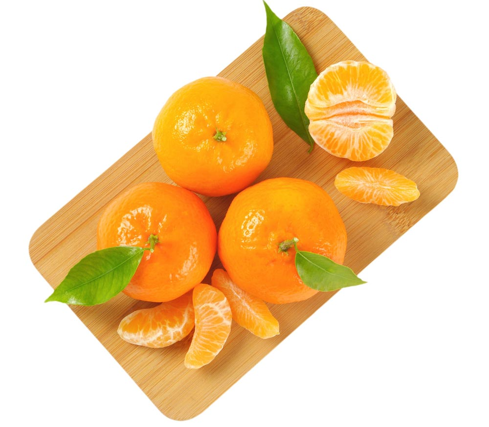 Tangerines with separated segments