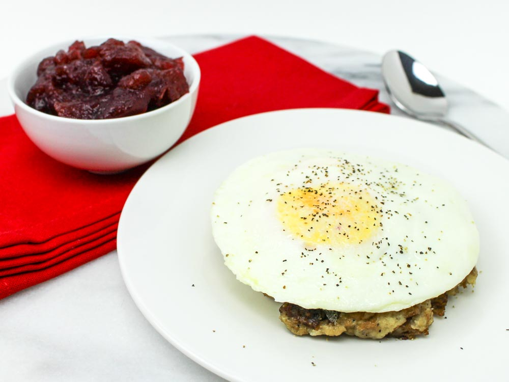 Sage Dressing With a Fried Egg