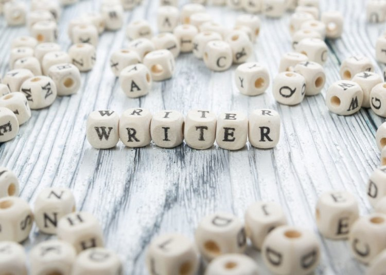 Writer word written on wood block