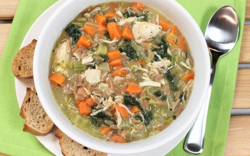 Chicken Whole Wheat Orzo Pasta Soup