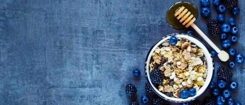 Granola in Vintage Mug, Dark Berries