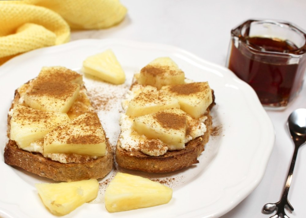 Tropical Pineapple and Honey Toast