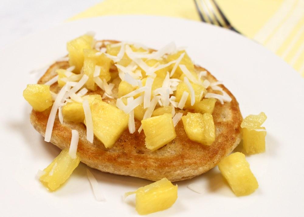 Pineapple & Melted Vanilla Ice Cream Pancakes
